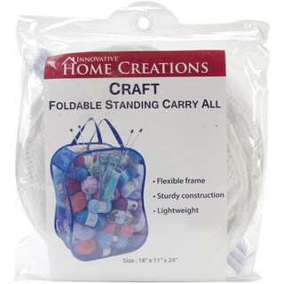 """Foldable Standing Carry All 18""""X11""""X24""""-White"""