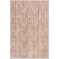 Safavieh Infinity Taupe/ Beige Polyester Rug - 5'1 x 7'6