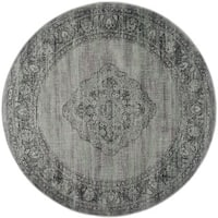 Safavieh Vintage Oriental Light Blue Distressed Silky Viscose Rug - 6' Round