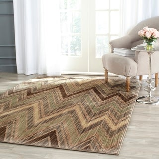 Safavieh Infinity Taupe/ Beige Polyester Rug (5'1 x 7'6)