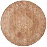 Safavieh Vintage Oriental Taupe Distressed Silky Viscose Rug - 6' Round