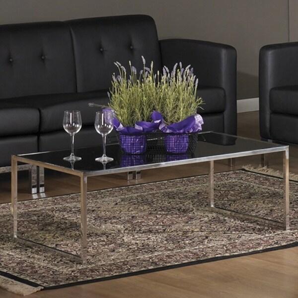 Shop Glass/ Chrome Reinforced Metal Base Coffee Table