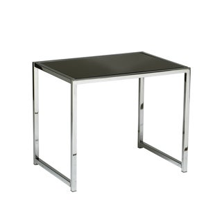 Glass/ Chrome Reinforced Metal Base End Table