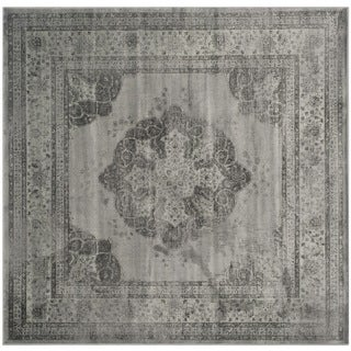Safavieh Vintage Grey/ Multi Distressed Silky Viscose Rug (6' Square)