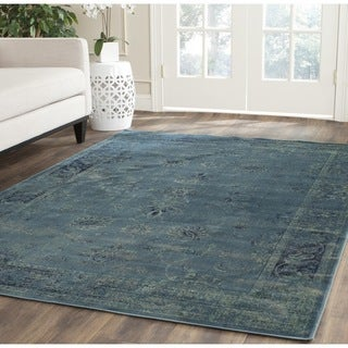 Safavieh Vintage Oriental Turquoise Distressed Silky Viscose Rug (6' Square)