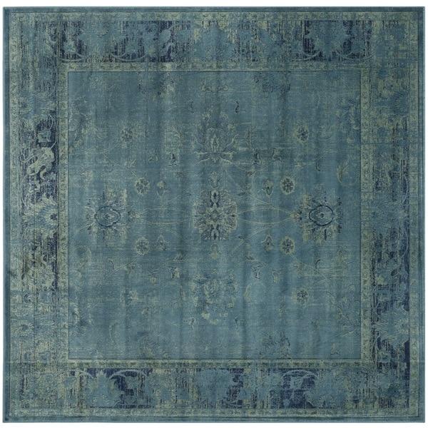 Safavieh Antiqued Vintage Turquoise Viscose Rug (6 Square)   16194485