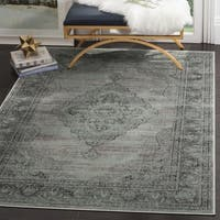 Safavieh Vintage Oriental Light Blue Distressed Silky Viscose Rug - 6' Square