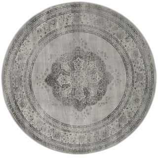 Safavieh Vintage Grey/ Multi Distressed Silky Viscose Rug (6' Round)