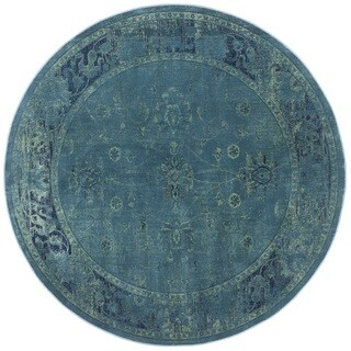 Safavieh Antiqued Vintage Turquoise Viscose Rug (6' Round)