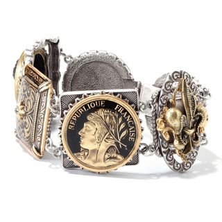 Sweet Romance Vintage French Cameo Antique Statement Bracelet