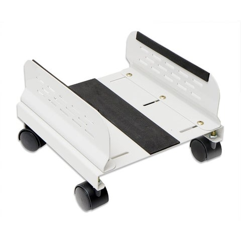 SYBA Steel PC Stand for ATX Case with Adj. Width with Caster wheels