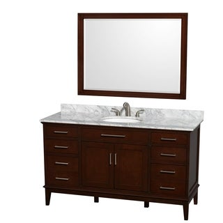 Fresca allier 36 inch grey oak modern bathroom vanity with mirror - 51 60 Inches Bathroom Vanities Amp Vanity Cabinets Shop The Best Deals