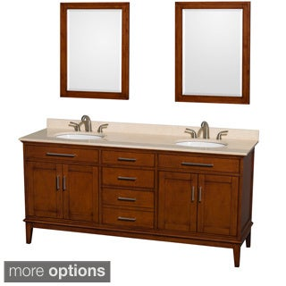 Wyndham Collection Hatton Light Chestnut Wood 72-inch Double Vanity