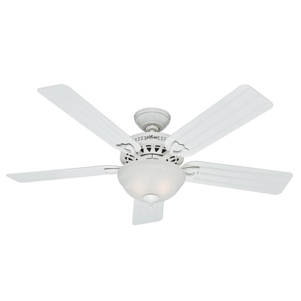 Shop Hunter 52 Inch Beachcomber White Ceiling Fan Free Shipping Today Overstock 8993593
