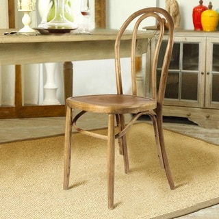 Adeco Elm Wood Antique Bistro Dining Chair (Set of 2)