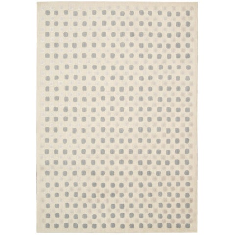"Calvin Klein Nara Bone Ivory Area Rug by Nourison - 9'3"" x 12'10"""