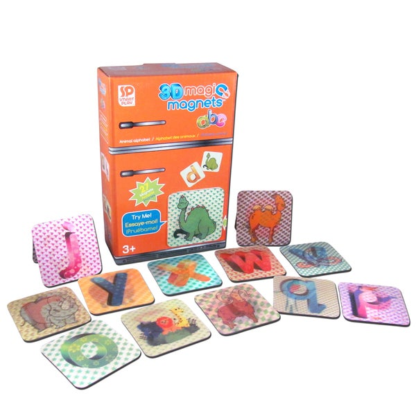 Smart Play 3D Magic Animal ABC Magnets