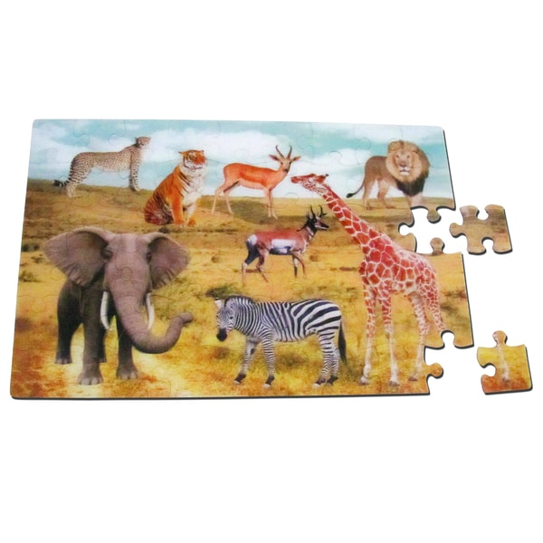 Smart Play Real 3D Color Inside Tray At the Zoo Puzzle