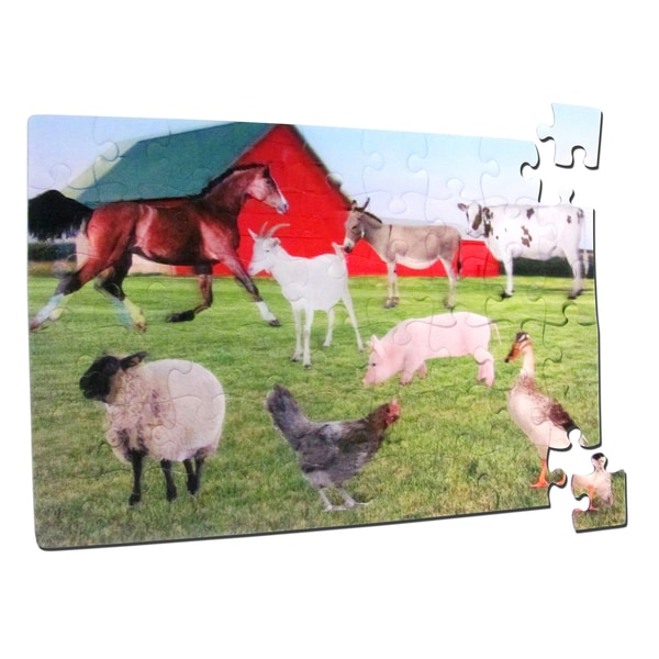 Smart Play Real 3D Color Inside Tray On the Farm Puzzle