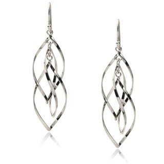 Journee Collection Sterling Silver Twisted Dangle Earrings