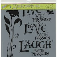 """Crafter's Workshop Template 12""""X12""""-Live, Love & Laugh"""