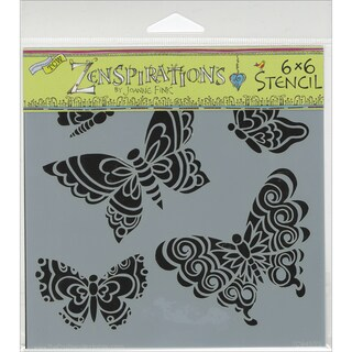 "Crafter's Workshop Template 6""X6""-Sweet Butterflies"