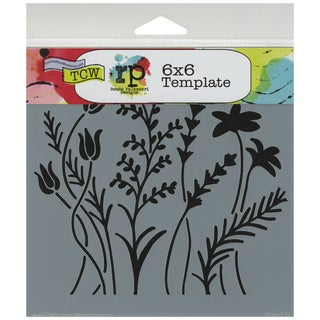 "Crafter's Workshop Template 6""X6""-Wildflowers"