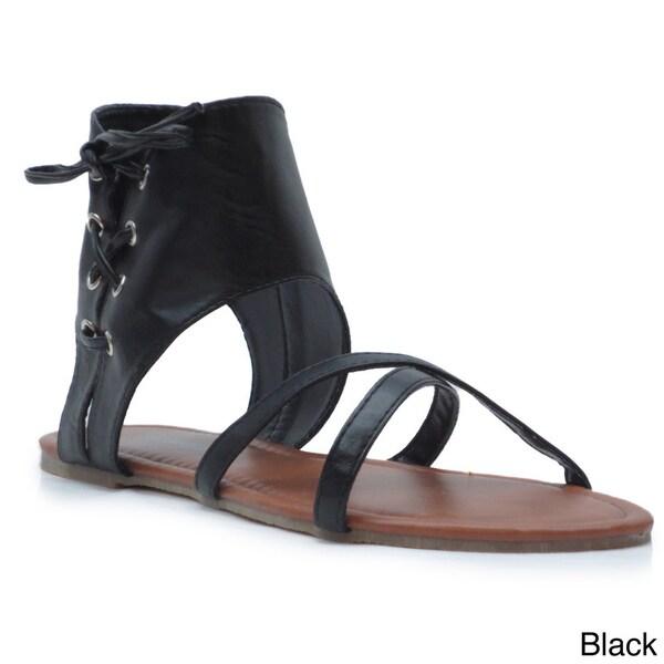Blue Women's 'Jeanette' Flat Gladiator Sandals