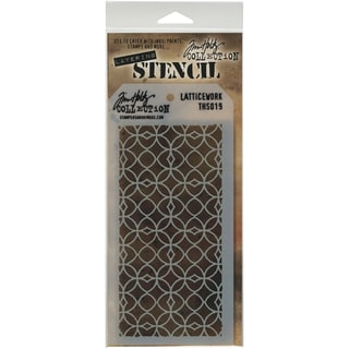 "Tim Holtz Layered Stencil 4.125""X8.5""-Latticework"