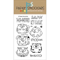 """Paper Smooches 4""""X6"""" Clear Stamps-Chubby Chums"""
