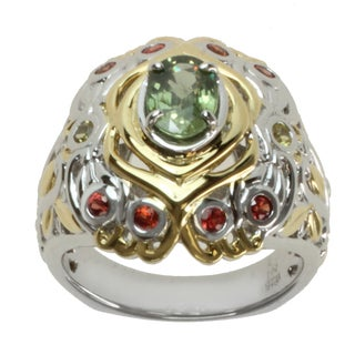 Michael Valitutti Two-tone Multi-color Sapphire Ring