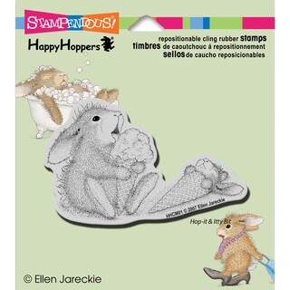 """Stampendous HappyHopper Cling Rubber Stamp 3.5""""X4"""" Sheet-Ice Cream Lick"""