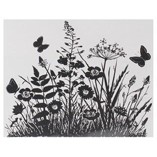 "Crafty Individuals Unmounted Rubber Stamp 4.75""X7"" Pkg-Wild Flowers & Butterflies"