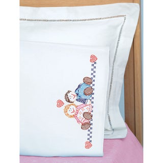 Children's Stamped Pillowcase With White Perle Edge 1/Pkg-Ann & Andy