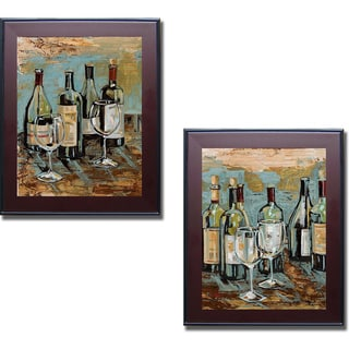 Heather French-Roussia 'Wine I and II' Framed 2-piece Canvas Set