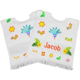 "Exotic Bird Toddler Bib 12""X11-1/2""-Petey Peacock"