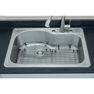 33 inch 18-Gauge Stainless Steel Drop-in Single Bowl Kitchen Sink ...