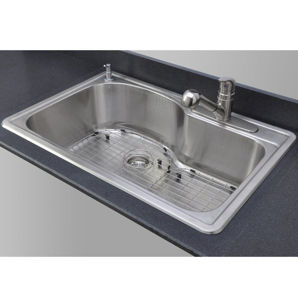 Wells Sinkware 18 Gauge Offset Single Bowl Topmount Stainless ...