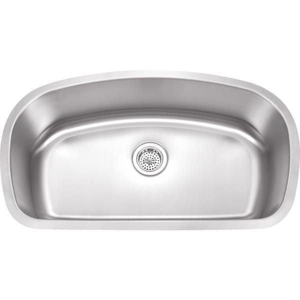 Wells Sinkware 18 Gauge Undermount Single Bowl Stainless Steel Kitchen Sink Package