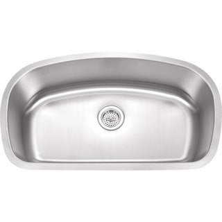Wells Sinkware 18 Gauge Undermount Single Bowl Stainless Steel Kitchen Sink Package