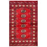 Handmade Herat Oriental Pakistani Bokhara Wool Rug (Pakistan) - 2'6 x 3'11