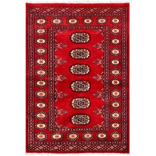 Herat Oriental Pakistani Hand-knotted Bokhara Wool Rug (2'6 x 3'8)