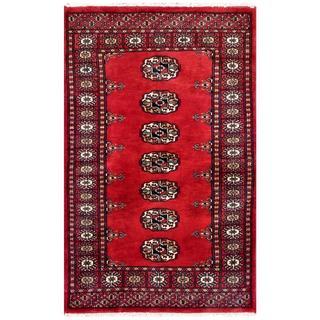 Herat Oriental Pakistani Hand-knotted Bokhara Wool Rug (2'7 x 4')