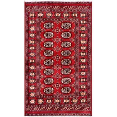 Handmade One-of-a-Kind Bokhara Wool Rug (Pakistan) - 3'1 x 5'2