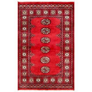 Herat Oriental Pakistani Hand-knotted Bokhara Wool Rug (2'7 x 4'1)
