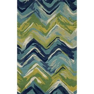 Liora Manne Painterly Blue Indoor Rug (3'6 x 5'6) - 3'6 X 5'6