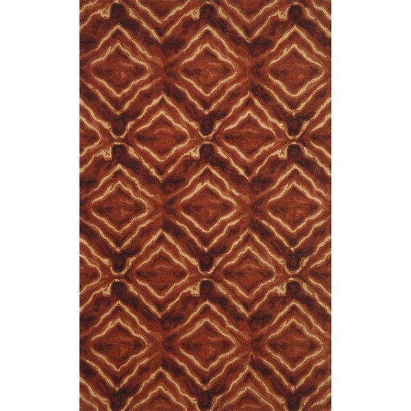 Liora Manne Diamonds Burgundy Indoor Rug (8' x 10') - 8' x 10'
