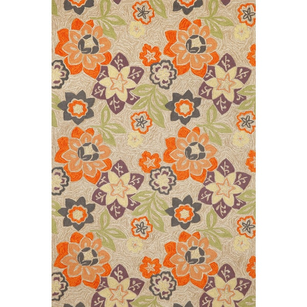 Liora Manne Scattered Flowers Outdoor Rug (7'6 x 9'6) - 7'6 x 9'6