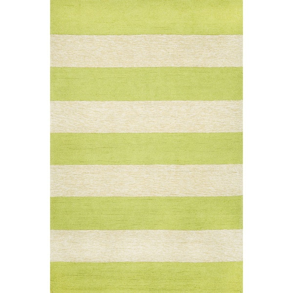 Bold stripe lime green cream outdoor rug 3 39 6 x 5 39 6 for Green and cream rugs