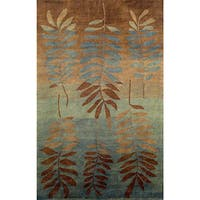 Leaf Aqua Indoor Rug - 8' x 10'